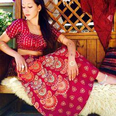 Mandala Tapestry Long Wrap Skirt Boho Gypsy Skirt Mandala Print... ($48) ❤ liked on Polyvore