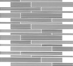 "New York Gray Glass Mosaic 12"""" x 12.36"""""