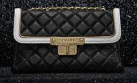 Chanel Black East West Flap Bag  #chanel #handbags