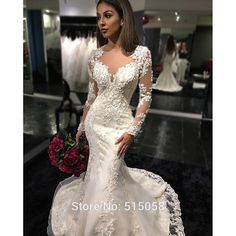 Fabulous Cheap wedding dresses fast shipping Buy Quality wedding invitations with box directly from China dress small Suppliers unbsp Fit and Flare Long Sleeves
