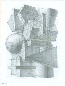 Композиция из геометрических тел на вступительных экзаменах в МАРХИ