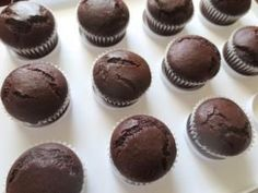 Uma das massas mais tradicionais para cupcake: o sabor chocolate!