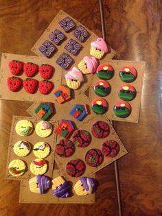 Polymer clay button sets by Lydia Quayle