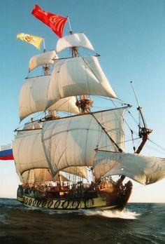 La réplique du «Shtandart», frégate russe du XVIIIesiècle, fera escale à Honfleur du 25 au 27juillet prochains.