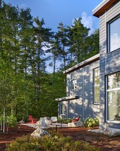 Winnipesaukee House | BLOOM Architecture; Photo: David Kurtis Photography | Archinect Architecture Photo, Landscape Architecture, Passive Solar, Envelope Design, Kurtis, The Expanse, Minimalism, Living Spaces, Bloom