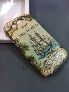 Vintage Boat decoupage case  for Samsung Galaxy S3 /Cover case / Hard Case / Accessories / smartphone/AT