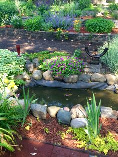 Perennial midwest garden with veggie garden combined...in the heart of the city!