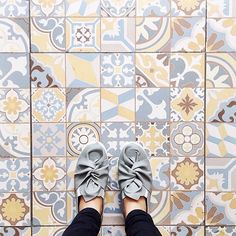 This week's #regram is for these #tuttifruttiles with cool shoes by @marieta.eu! Thanks for spreading the #TileAddiction! by tileaddiction
