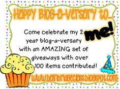 *Bunting, Books, and Bainbridge*: MAJOR Giveaway to Celebrate My 2 Year Blog-a-Versary! MAJOR. Seriously!