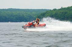 Zip across Lake Wallenpaupack on a jet ski! #PoconoMtns