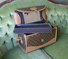 Vintage Louis Vuitton Luggage Train Case by VelvetCrushVintage, $284.00