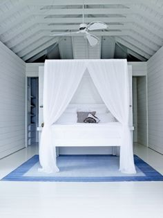 Beautiful cool white home in St Barths