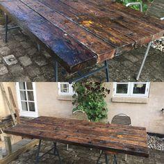 Plankebord af gulv fra lagerhal