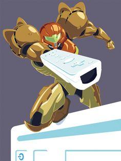 Samus Wii Advertisement by PreyingDantis.deviantart.com on @deviantART