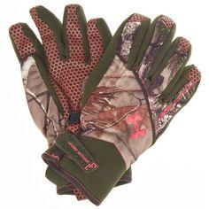 Under Armour® Women's ColdGear® Waterproof Realtree AP Camo Hunting Gloves