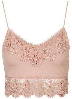 498ae716e88cb Crochet detailing makes this bralette so chic. Bralettes