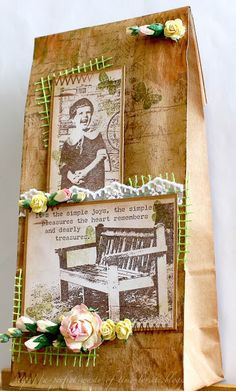 A perfect waste of time: Vintage Decorated Paper Bag