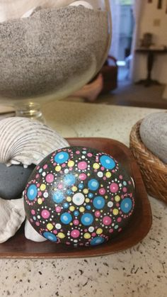 Painted Beach Stone-Spring