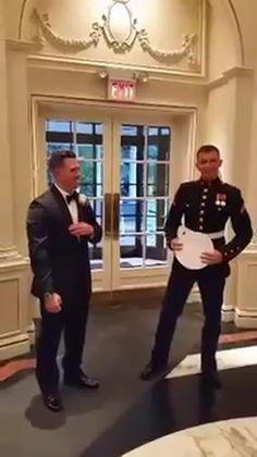 Godwin Usiayo - Marine surprises brother at his wedding. http://bit.ly/20jGUnz