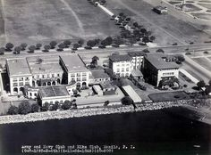 Aerial view of the Army and Navy Club in Manila, Philippines.