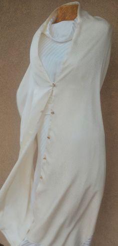 Wedding Shawl Wedding Wrap In Dark Ivory Bridal Shawl by Lupiko