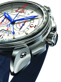 Cuervo y Sobrinos Historiador Vuelo Automatic (stainless steel case, lugs, crown and push-pieces)