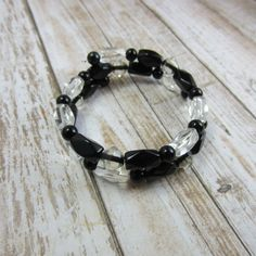 This black wrap bracelet will go with everything I own!