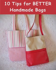 10 Tips for Better Handmade Bags /Geta's Quilting Studio