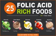 25 Foods High in Folic Acid