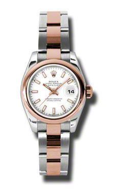 Rolex- Datejust Lady Steel & Pink Gold Domed Bezel Oyster 179161WSO