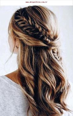 45 best balayage hairstyles for straight hair for 2019 - frisuren haare hair hair long hair short Elegant Wedding Hair, Wedding Hair Down, Wedding Hair And Makeup, Wedding Updo, Wedding Bride, Wedding Hairstyles Half Up Half Down, Fishtail Wedding Hair, Trendy Wedding, Braided Half Up Half Down Hair