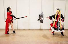 Cosplay blazblue  Cosplayers:  Litchi: Rebecka de Alba [Misha cosplay] Rachel Alucard: Dulce Félix [Zasamisan]  evento: Taokon 2016 [expoforum Hermosillo, sonora]  #blazblue #rachelalucard #litchifayeling #cosplay