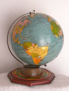 vintage J. Chein globe with zodiac, months, solstice and equinox. $25.00, via Etsy.
