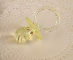 12 Large Yellow Pacifiers for Neutral Baby by JuliasLovelyCrafts, $6.50