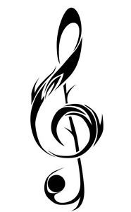 tribal music note tattoo designs - Google Search