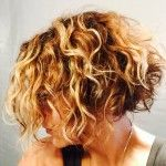 pictures of curly inverted bob