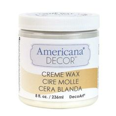 The affordable alternative to Annie Sloan Chalk paint. Yes, Please!! Americana Decor 8-oz. Clear Creme Wax
