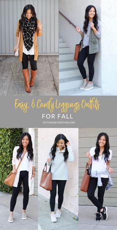 Since we all love a comfy outfit I decided to share six outfits with leggings for fall of course featuring my favorite ZELLA LEGGINGS These leggings are flattering secure comfy and can be worn for activewear athleisure and everyday casual looks. Comfy Legging Outfits, Sporty Outfits, Cute Outfits, Comfy Outfit, Easy Outfits, Sporty Clothes, Mom Clothes, Model Outfits, Winter Clothes