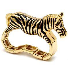 Garcella's Gold Zebra Two Finger Ring