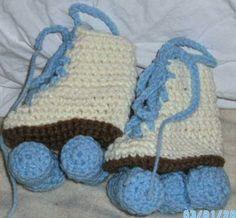 Baby Roller skates with Blue wheels by BorninBuffalo on Etsy, $18.50