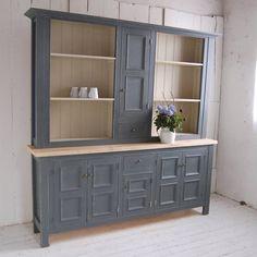 Gray Panelled Kitchen Dresser