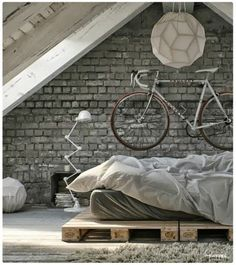 Home House Interior Decorating Design Dwell Furniture Decor Fashion… Industrial Bedroom, Industrial Interiors, Industrial Style, Industrial Wallpaper, Industrial Stairs, Industrial Office, Industrial Farmhouse, Industrial House, Industrial Furniture