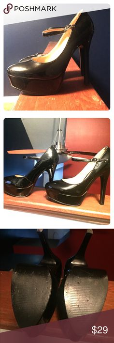 Mary Jane with an Edge Gently worn Type Z Mary Jane. Platform and 5.5 heel. Patent Leather/black. No box Type Z Shoes Heels