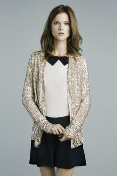 sweet and fun, loving this jacket for a night out with jeans and a t or over a black dress.
