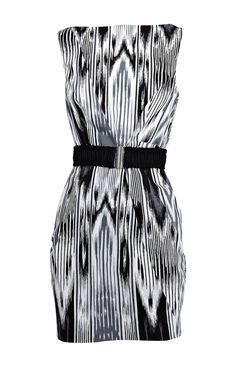 Karen Millen Print Cotton Dress Multicolour [#KMM068] - $90.15 :