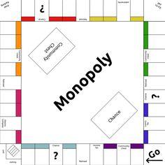 Monopoly Template By Lunarcloud On Deviantart Clroom Ideas