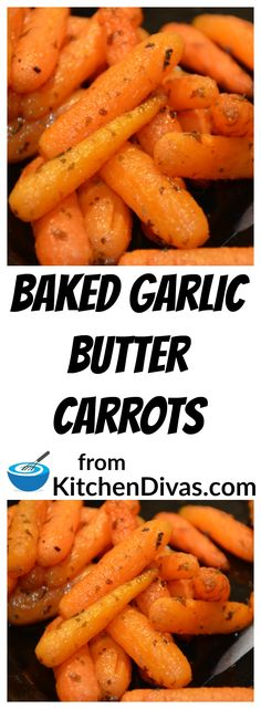 Baked Garlic Butter Carrots are so easy to make and delicious! I often buy a stick of garlic butter to find my 6 tablespoons and make this recipe even easier and a little faster! Absolutely delicious! You have to give this recipe a try!