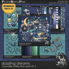 """Dazzling Dreams """"Bundle collection Part 01"""" by Paty Greif"""