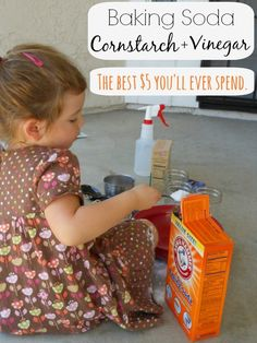Cornstarch, Baking Soda and Vinegar Experiment (with a twist)