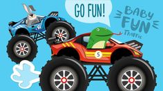 Hey! Our new video! Car Cartoons for KIDS | Monster Truck Racing | Videos for Kids | Baby Fun Traffic